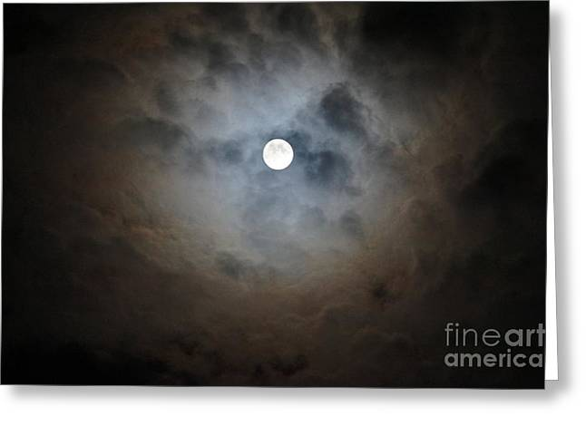 Print On Canvas Greeting Cards - The beauty of the Moon Greeting Card by Zori Minkova