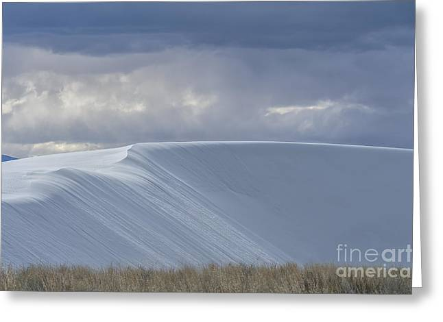 Stormy Weather Greeting Cards - The Beauty of White Sands National Monument Greeting Card by Sandra Bronstein