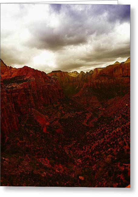 Geology Photographs Greeting Cards - The Beauty Of Zion Natinal Park Greeting Card by Jeff  Swan