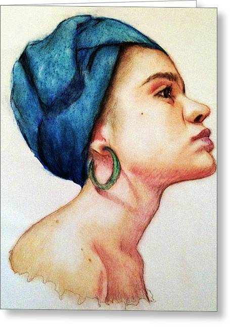 Black History Pastels Greeting Cards - The Becoming. Greeting Card by Courtney James