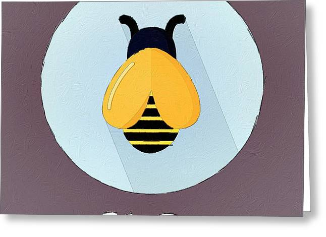 Suburban Posters Greeting Cards - The Bee Cute Portrait Greeting Card by Florian Rodarte