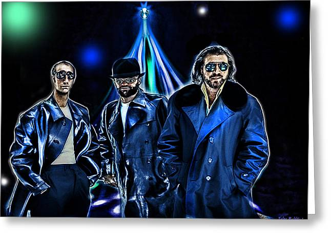 The Bee Gees Greeting Card by Tyler Robbins
