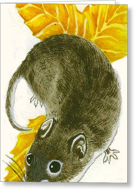Lori Ziemba Greeting Cards - The Beech Mouse Greeting Card by Lori Ziemba