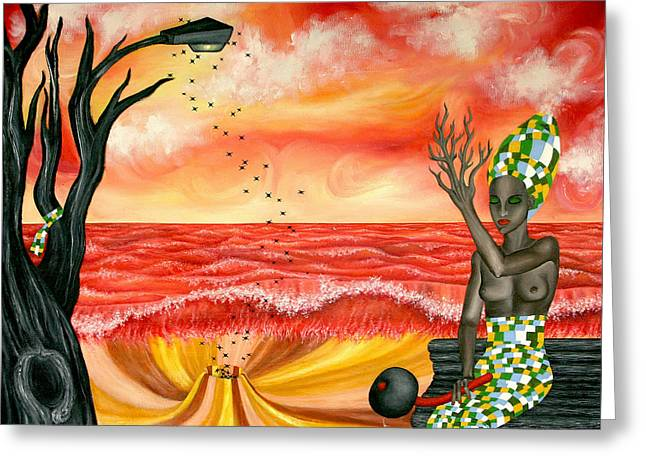 Spiritua Greeting Cards - The Beginning Against The End Greeting Card by Edward Misak