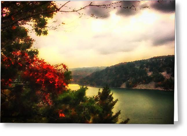 Photos Of Autumn Digital Greeting Cards - The Beginning Of Autumn Greeting Card by Thomas Woolworth