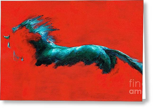 Abstract Equine Greeting Cards - The Beginning of Life Greeting Card by Frances Marino