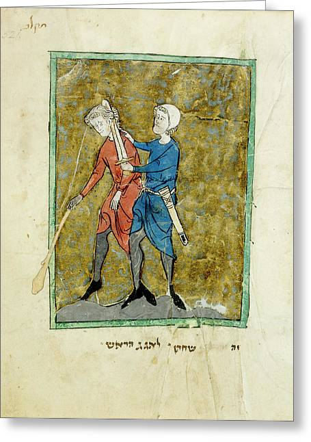The Beheading Of Agag Greeting Card by British Library