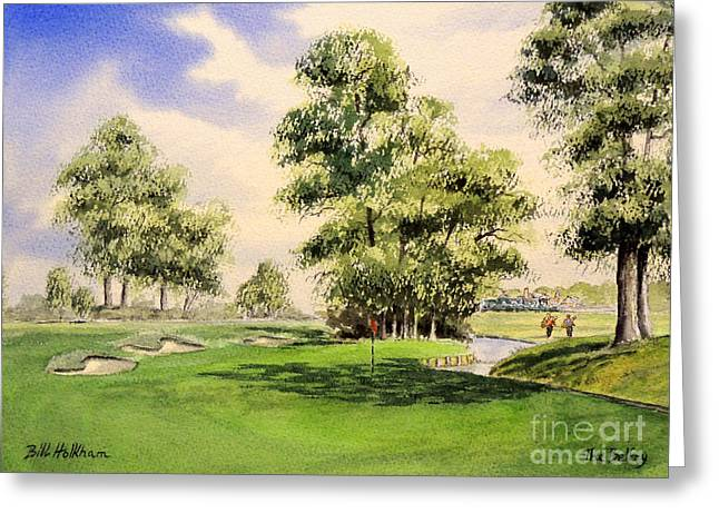 Sutton Paintings Greeting Cards - The Belfry Brabazon 10Th Hole Greeting Card by Bill Holkham