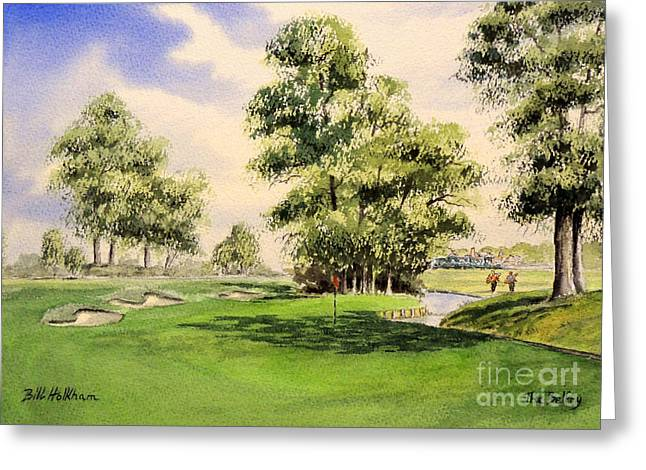 Sutton Greeting Cards - The Belfry Brabazon 10Th Hole Greeting Card by Bill Holkham