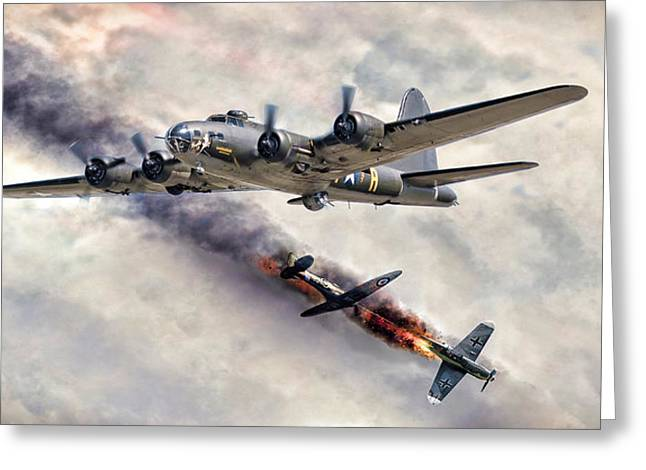 Spitfire Greeting Cards - The Belle In Action Greeting Card by Peter Chilelli