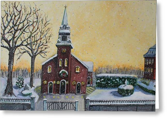 The Bells Of St. Mary's Greeting Card by Rita Brown