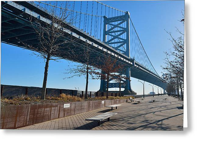 Ben Franklin Bridge Greeting Cards - The Ben Franklin Bridge Greeting Card by William Jobes
