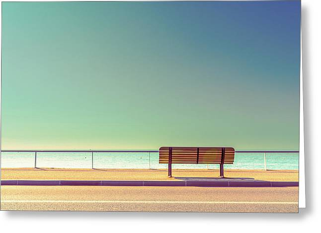 The Bench Greeting Card by Arnaud Bratkovic