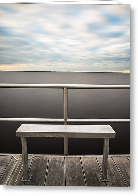 Florida Landscape Photography Greeting Cards - The Bench Greeting Card by Clay Townsend