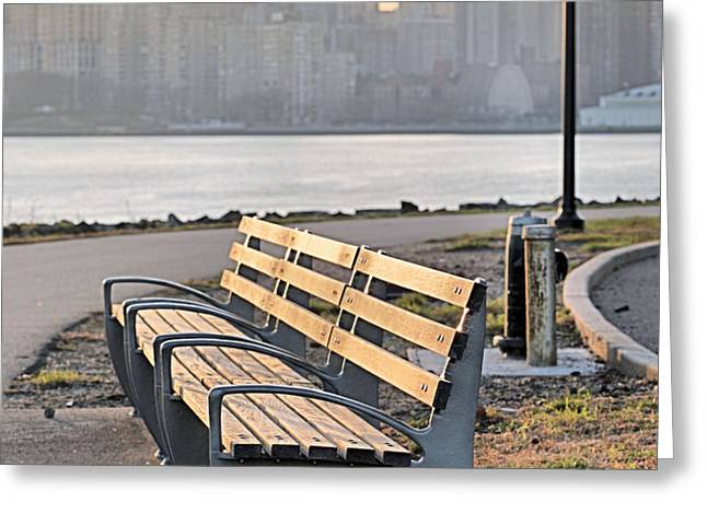 The Bench Greeting Card by JC Findley