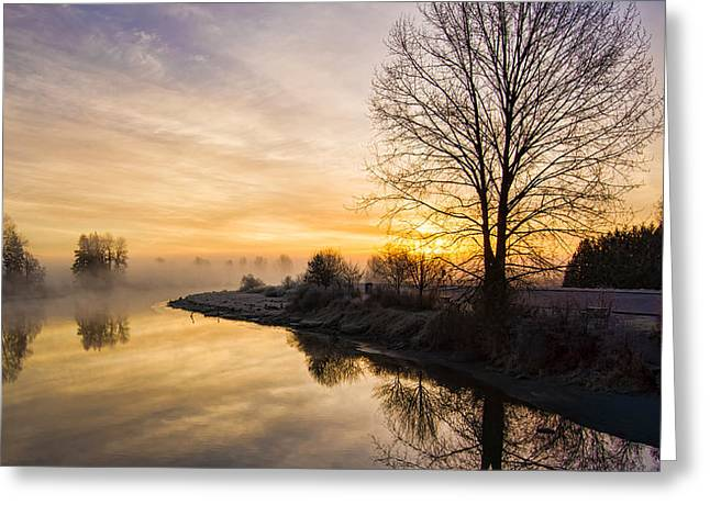 Park Scene Greeting Cards - The Bend Greeting Card by James Wheeler