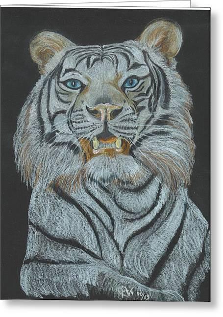 Cat Prints Pastels Greeting Cards - The Bengal Greeting Card by Carol Wisniewski