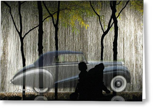 Carnegie Museum Greeting Cards - The Bently The People The Waterfall Greeting Card by David Jordan