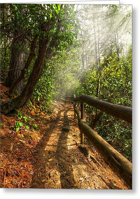 Tn Greeting Cards - The Benton Trail Greeting Card by Debra and Dave Vanderlaan