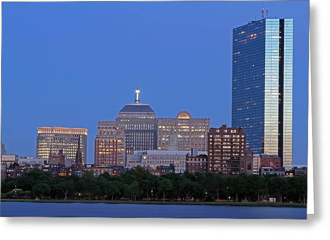 Boston Pictures Greeting Cards - The Berkeley Building Greeting Card by Juergen Roth
