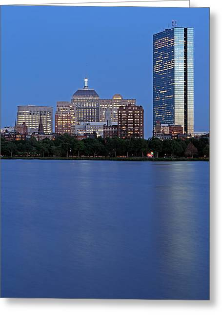 Boston Pictures Greeting Cards - The Berkeley Building of Boston Greeting Card by Juergen Roth