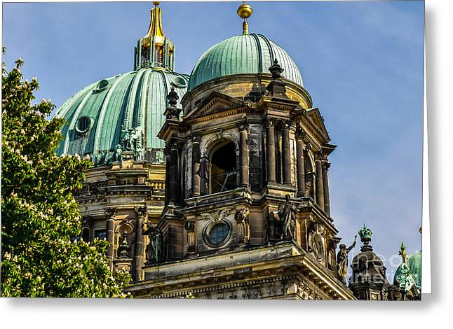 Print On Canvas Greeting Cards - The Berlin Dome Greeting Card by Sabine Edrissi