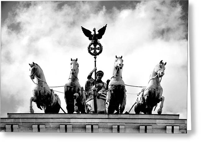 Black History Pyrography Greeting Cards - The Berlin Quadriga Greeting Card by Steffen Schumann