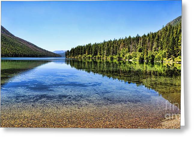 The Best Beach In Glacier National Park Panorama 2 Greeting Card by Scotts Scapes