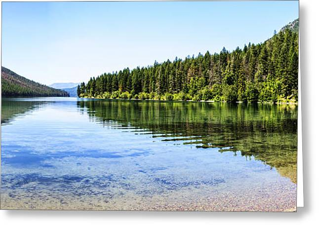 Fed Greeting Cards - The Best Beach In Glacier National Park Panorama Greeting Card by Scotts Scapes