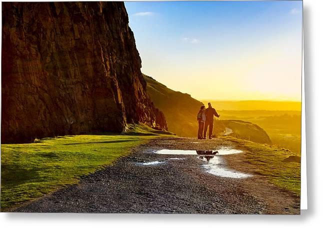 The Best Is Yet To Be - Edinburgh Greeting Card by Mark Tisdale