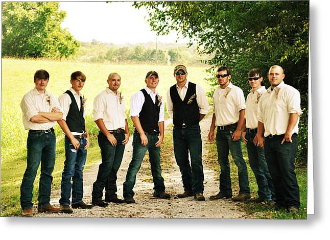 Franklin Tennessee Greeting Cards - The Groom and his Best Men Greeting Card by Chastity Hoff
