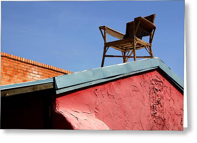 The Best Seat In The House Greeting Card by Joe Kozlowski