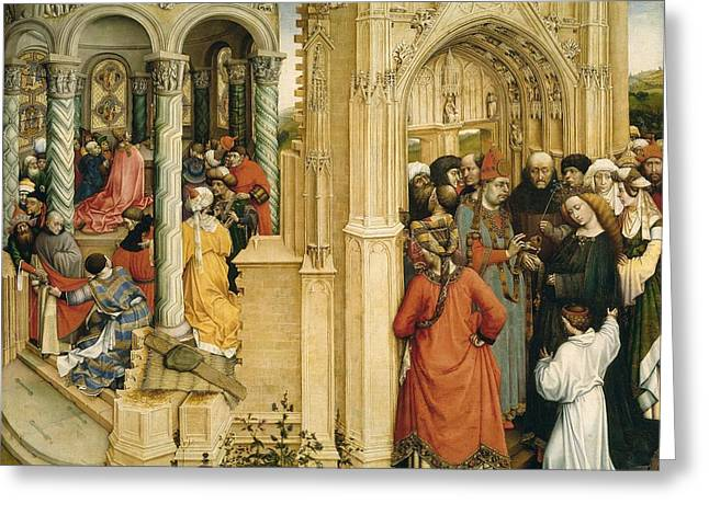 1420 Greeting Cards - The Betrothal of the Virgin Greeting Card by Robert Campin