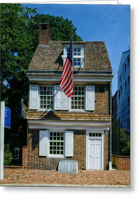 Betsy Greeting Cards - The Betsy Ross House Greeting Card by Mountain Dreams