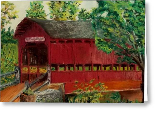 Covered Bridge Pastels Greeting Cards - The Betty Ruth Greeting Card by Donna Godlove