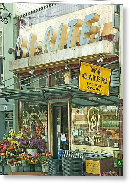 San Francisco Famous Photographers Greeting Cards - The Bi Rite in San Francisco Greeting Card by Artist and Photographer Laura Wrede