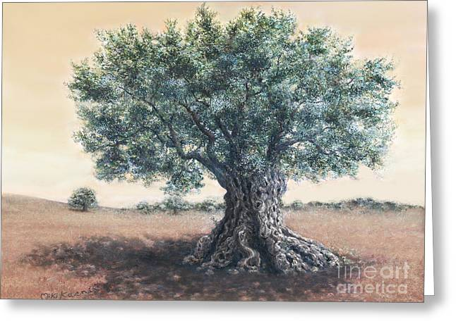 The Biblical Olive Tree Greeting Card by Miki Karni