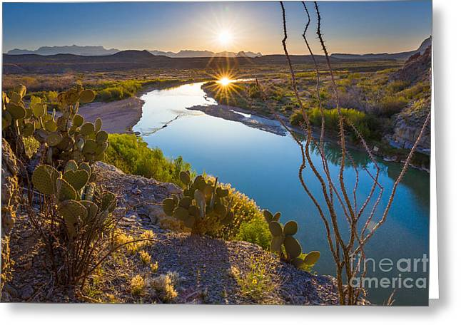 The Big Bend Greeting Card by Inge Johnsson