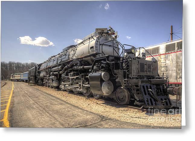 Alco Locomotives Greeting Cards - The Big Boy  Greeting Card by Rob Hawkins