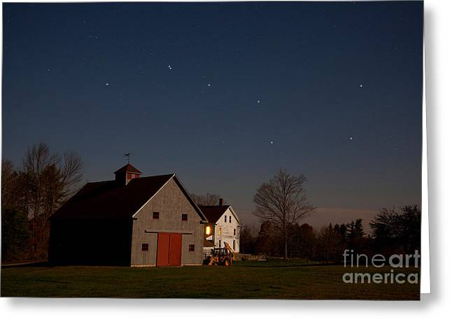Outerspace Greeting Cards - The Big Dipper Constellation Greeting Card by Larry Landolfi