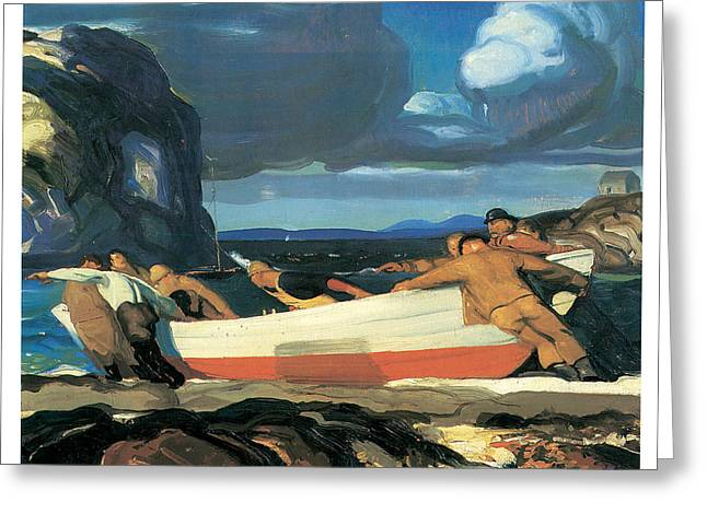 The Big Dory Greeting Card by George Bellows