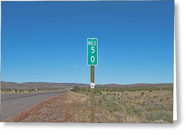 Recently Sold -  - Roadway Greeting Cards - The Big Five O Greeting Card by Hank Lerma