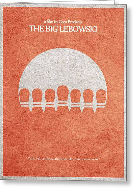 Retro Typography Greeting Cards - The Big Lebowski Greeting Card by Ayse Deniz