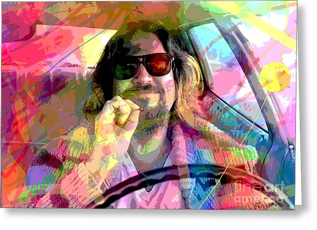 Smoke Greeting Cards - The Big Lebowski Greeting Card by David Lloyd Glover