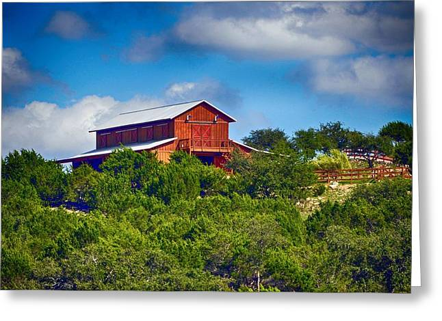 Hallmark Greeting Cards - The Big Red Barn Greeting Card by Kristina Deane