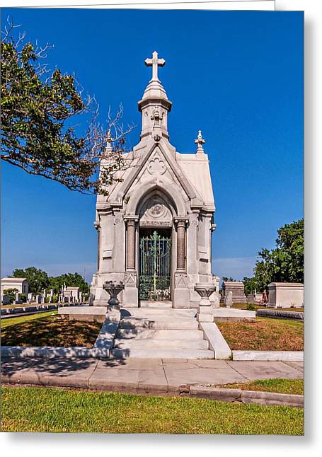Metairie Cemetery Greeting Cards - The Big Sleep Greeting Card by Steve Harrington