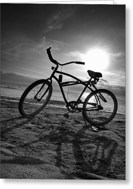 Beach Prints Greeting Cards - The Bike Greeting Card by Peter Tellone