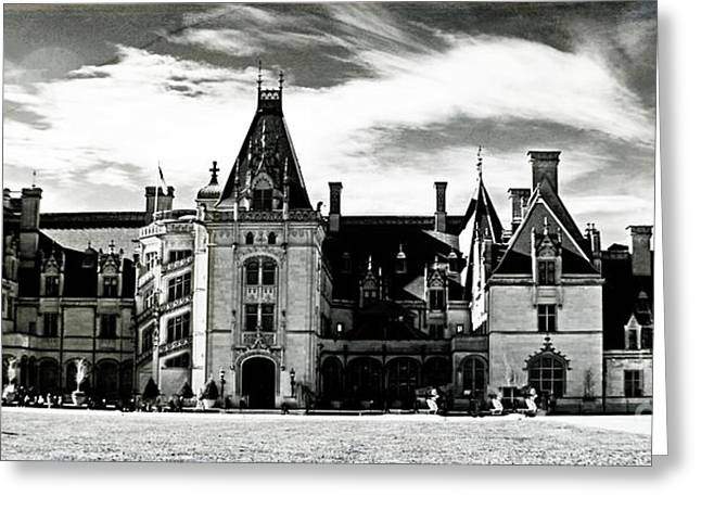 Chateau Greeting Cards - The Biltmore Estate 2 Greeting Card by Luther   Fine Art