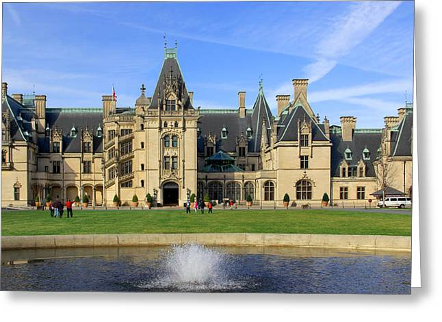 The North Digital Art Greeting Cards - The Biltmore Estate - Asheville North Carolina Greeting Card by Mike McGlothlen