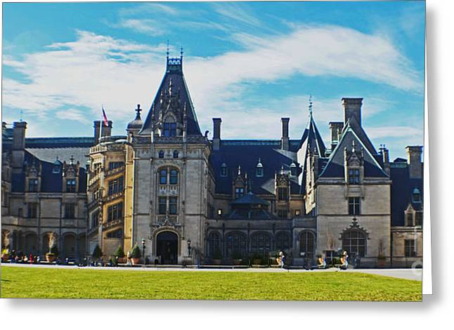 Chateau Greeting Cards - The Biltmore Estate Greeting Card by Luther   Fine Art